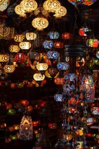 Цветные турецкие лампы