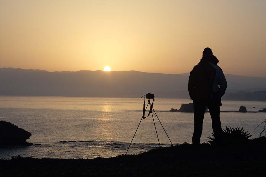 Кипр, восход солнца в бухте Афродиты