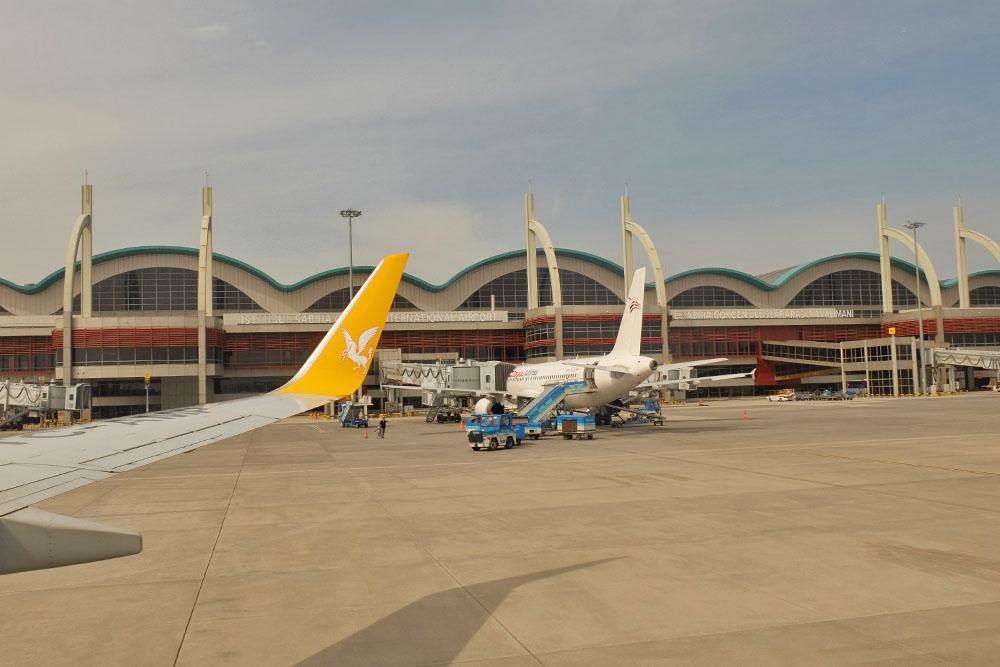 Аэропорт Сабиха - вид со взлетной полосы