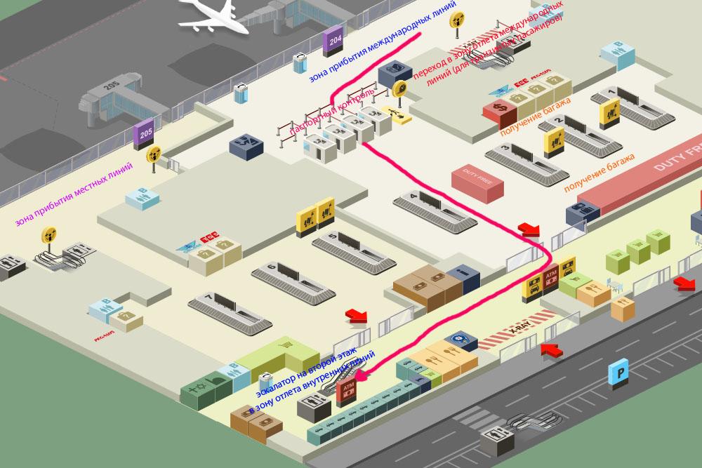 Аэропорт Сабиха - первый этаж