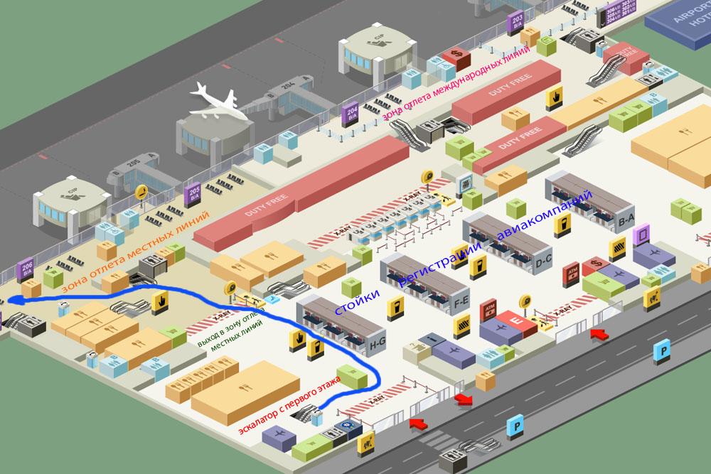 Аэропорт Сабиха - второй этаж