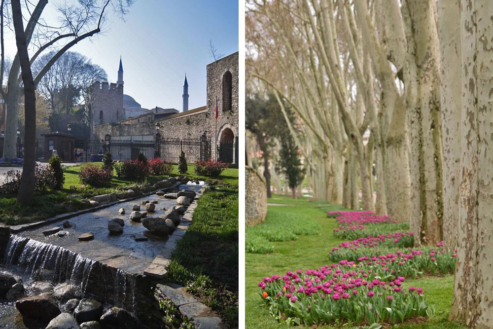 Парк Гюльхане - деревья и фонтаны