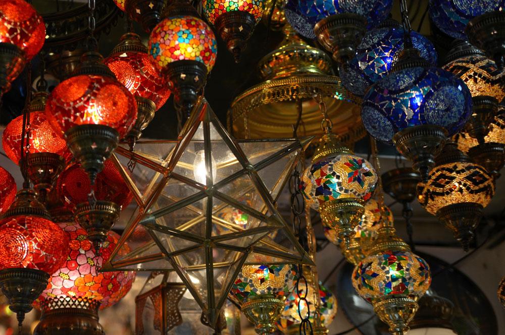 Турецкие цветные лампы
