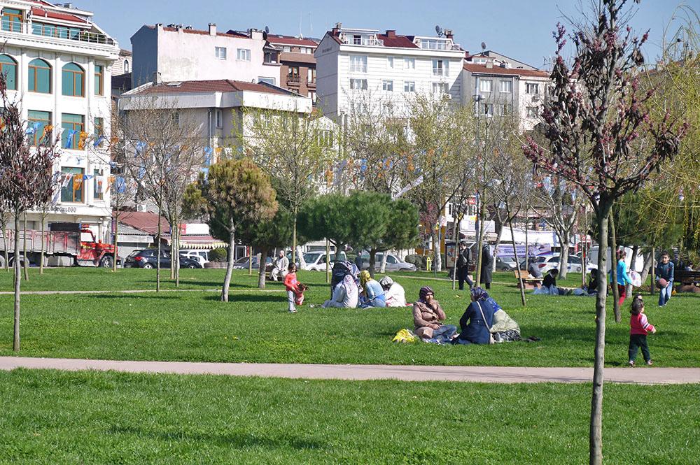 Парки вдоль бухты Золотой Рог