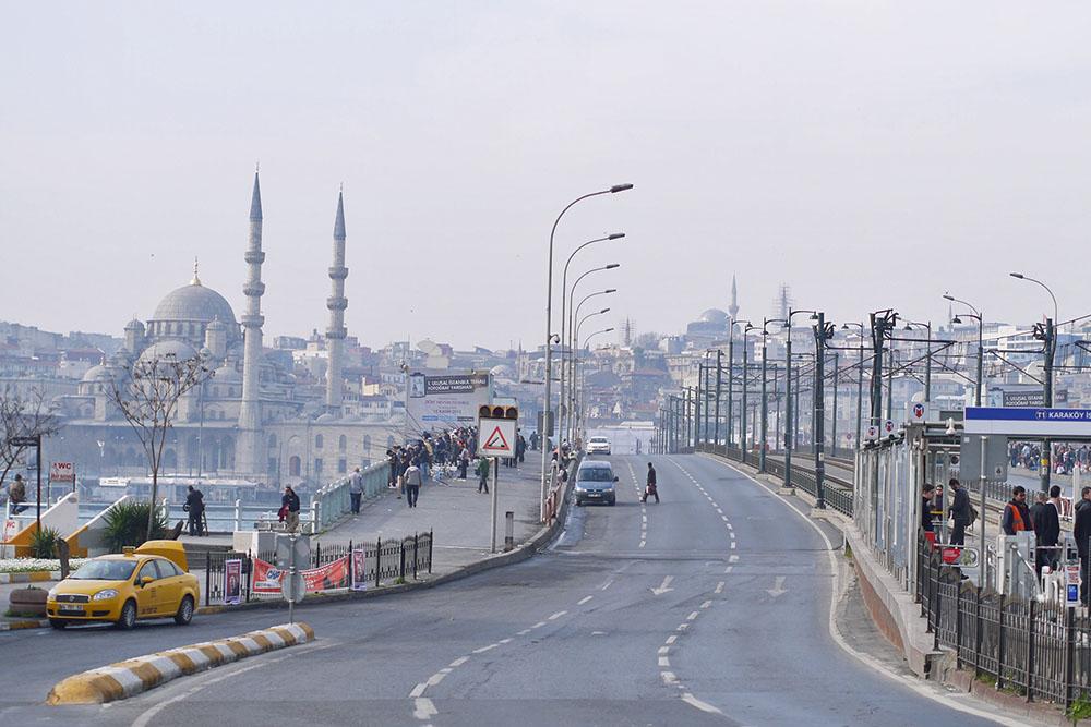 верхний ярус Галатского моста