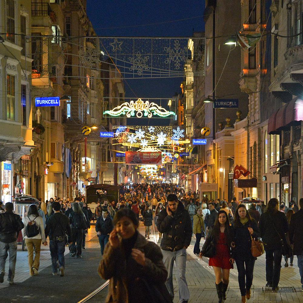 Истикляль -главная пешеходная улица Стамбула