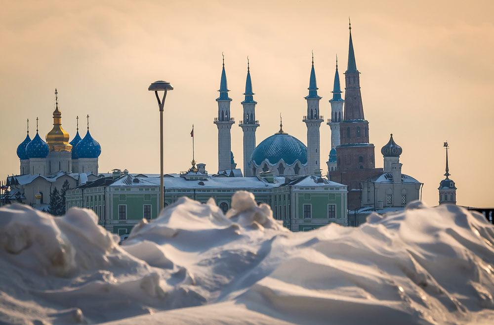 Снежные заносы в Казани