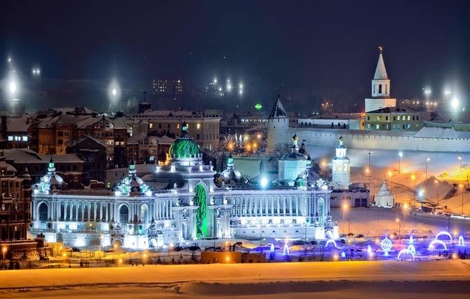 Казань иллюминация