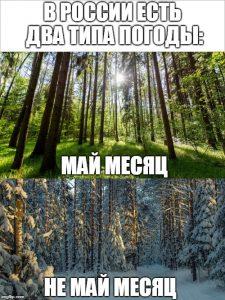 Типы погоды в России