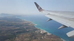 Вид из самолета на греческое побережье