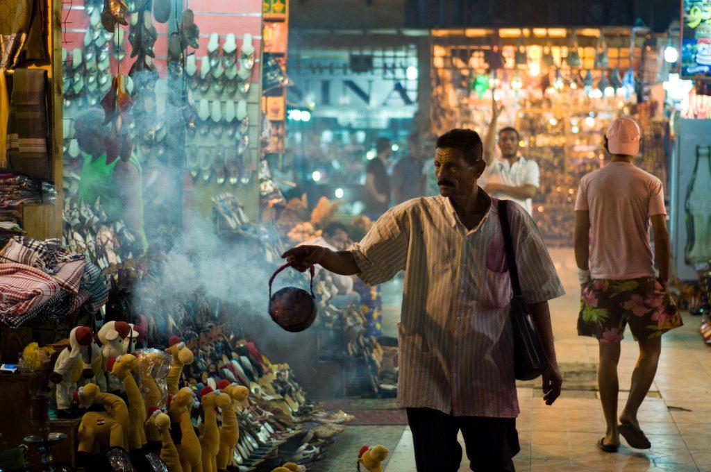 Египетский базар вечером