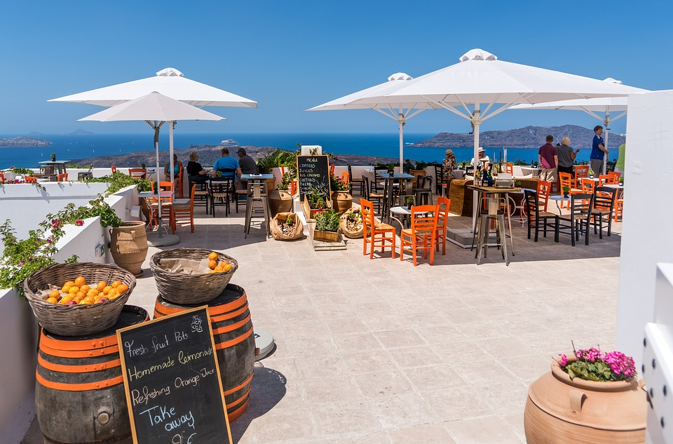 Кафе в Санторини