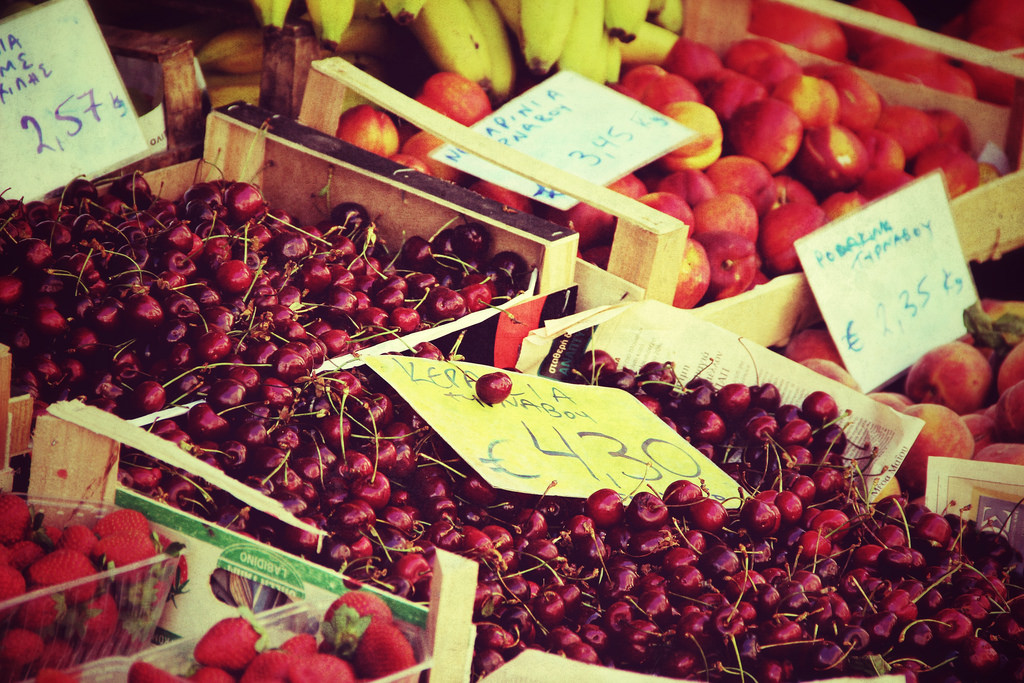 Цены на греческих базарах