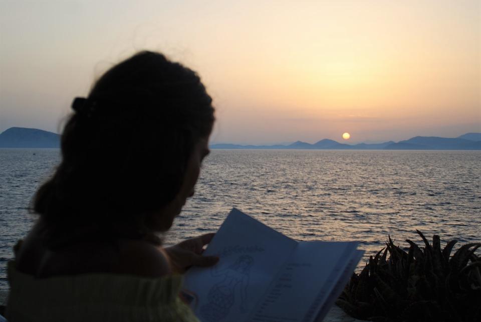 Чтение в закат