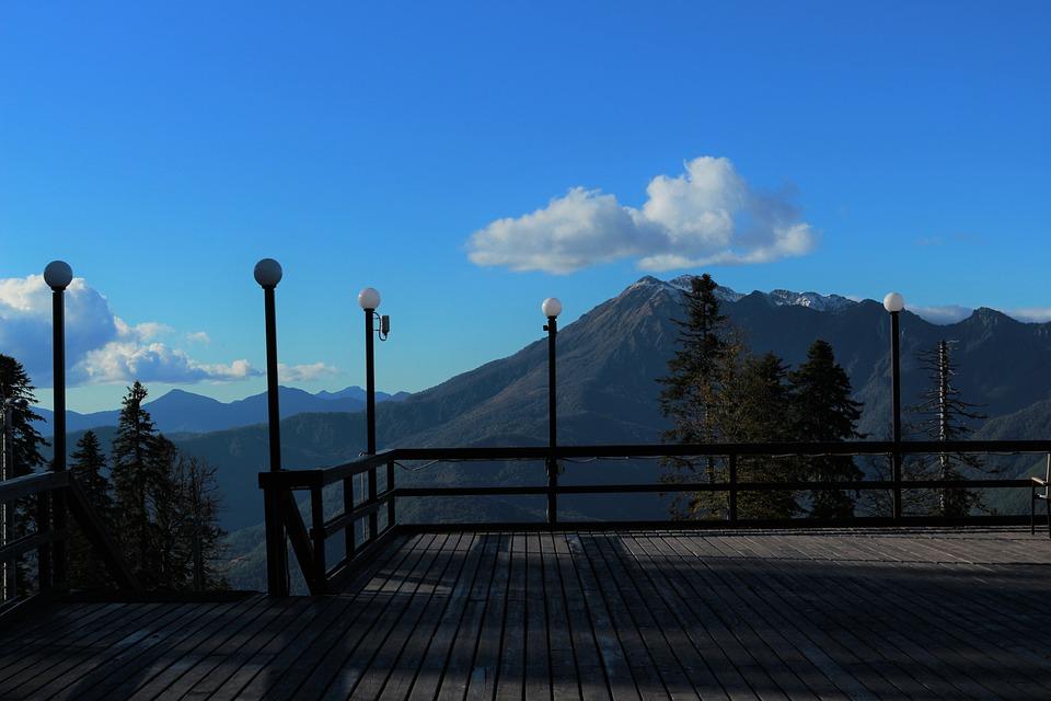 Вид на гору Ахун