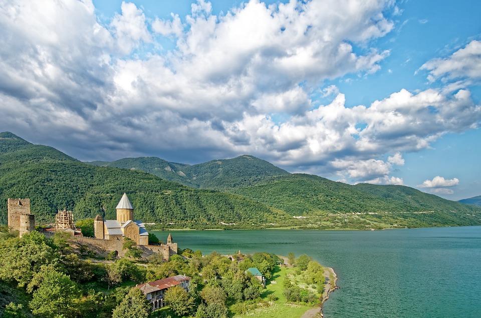 Красивый пейзаж в Грузии