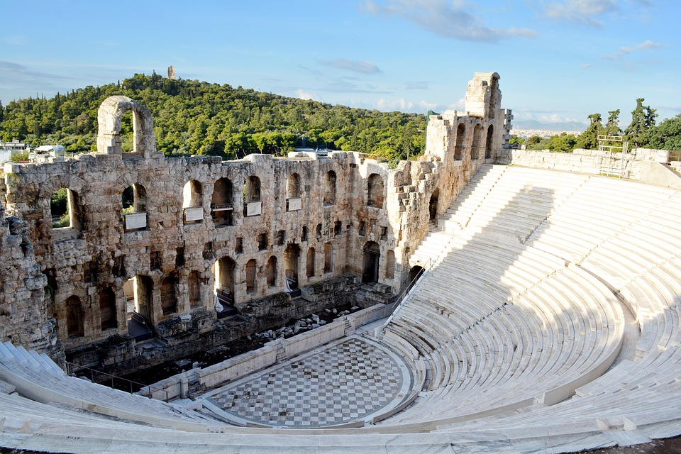Афины в Греции Акрополь