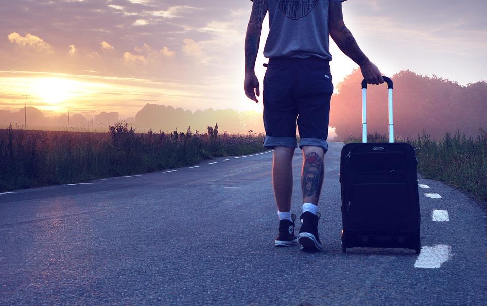 Турист отправляется в путешествие