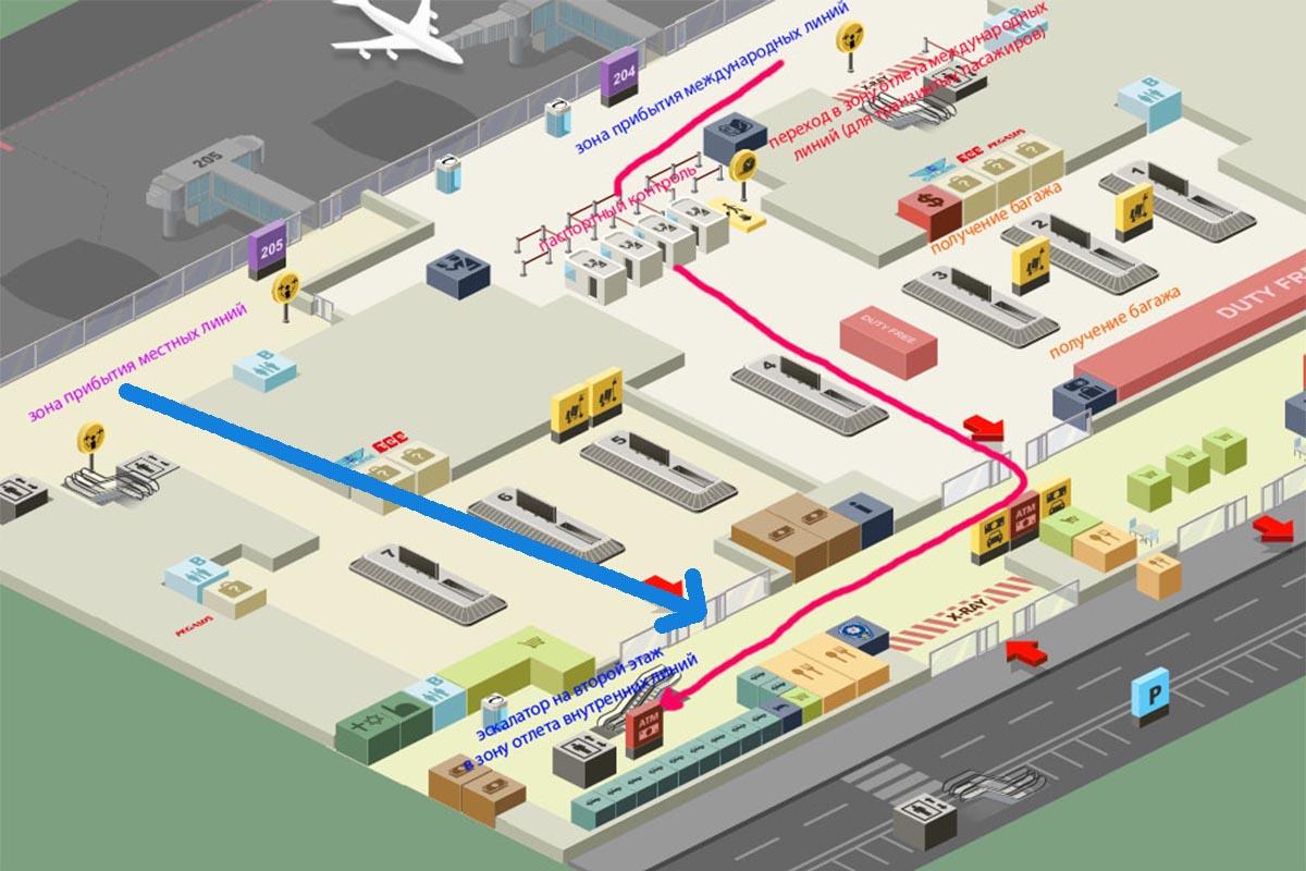 схема аэропорта Сабиха первый этаж