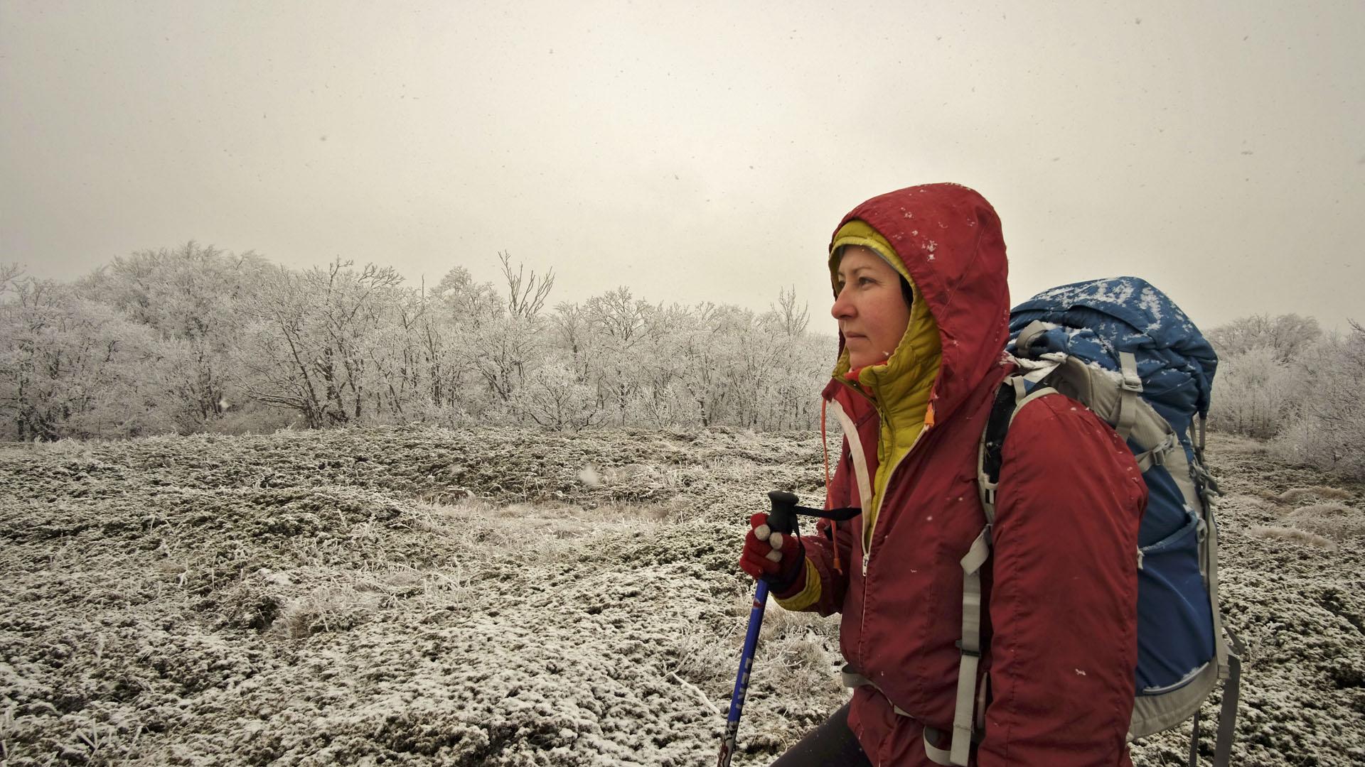 Турист зимой