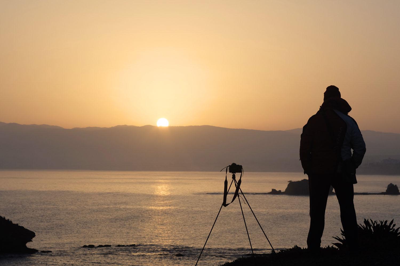 Восход солнца в бухте Афродиты, полуостров Акамас, Кипр