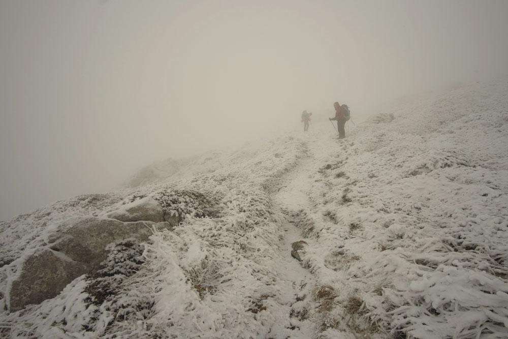 Тропа на Ангар-Бунун в тумане