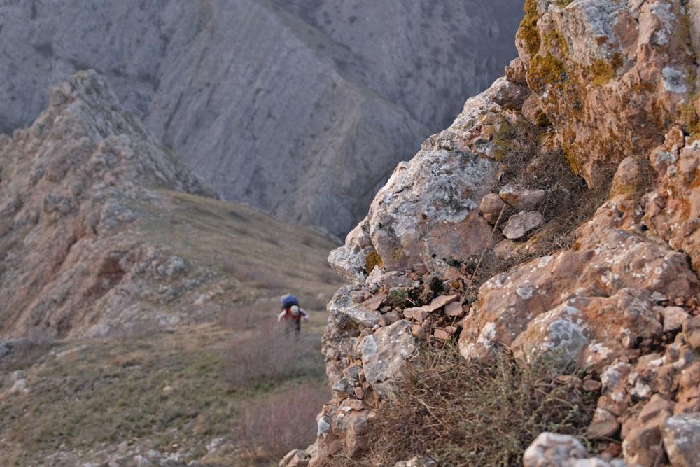 Подъем на нижнее плато Чатырдага