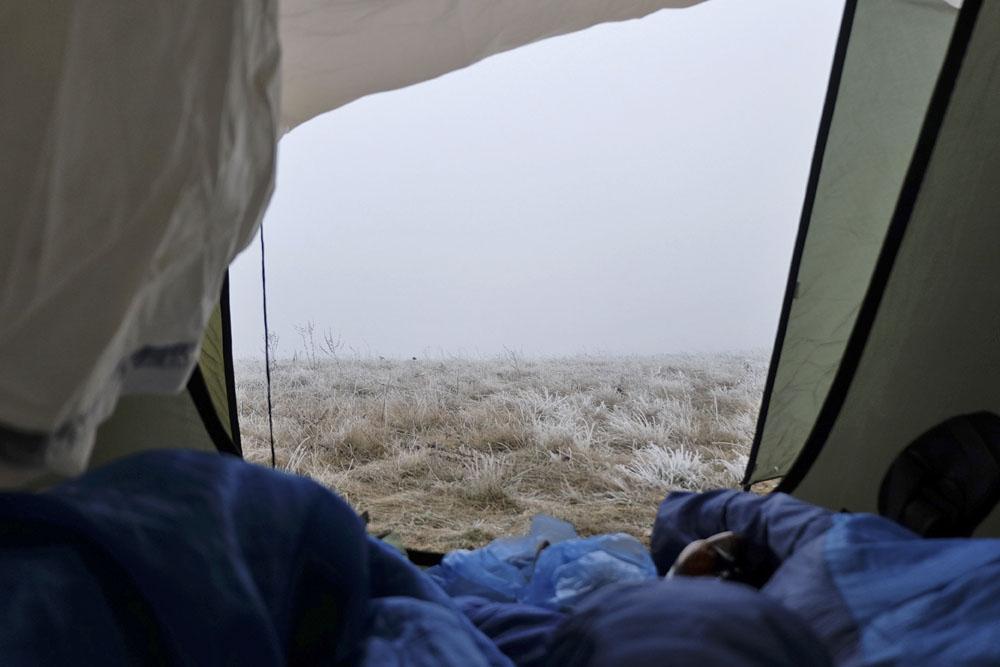 Иней из палатки