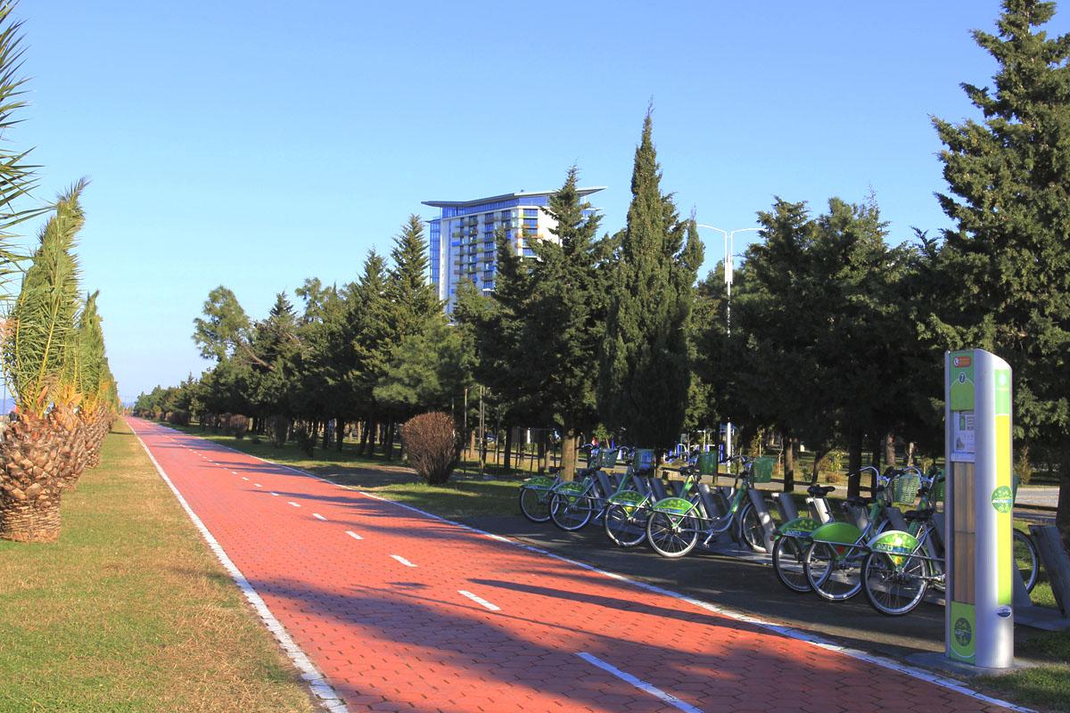 Велодорожка на набережной Батуми