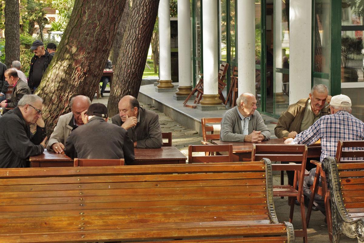 Шахматисты в Приморском парке Батуми