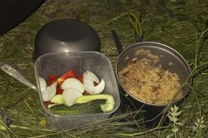 рис с грибами на ужин