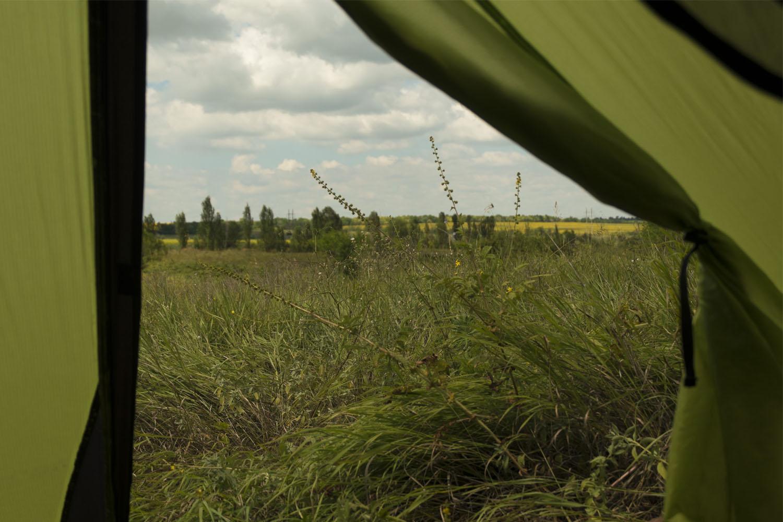 Приазовье - утренний вид из палатки