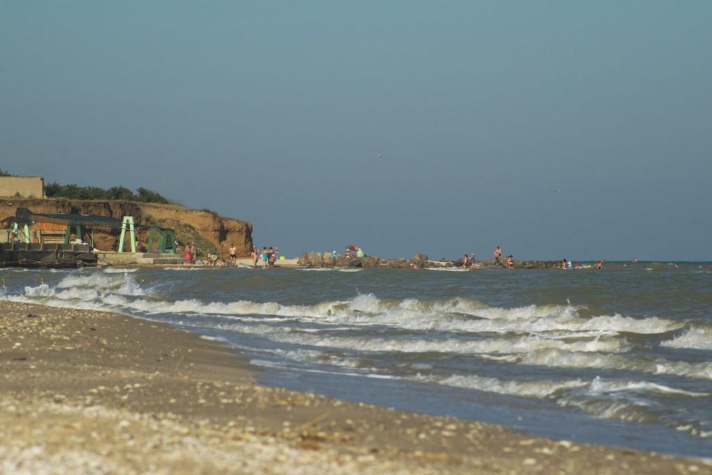 Степановская коса, пляж рядом с селом