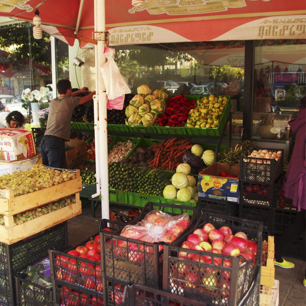 грузинские фрукты и сухофрукты